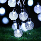 LED Solar Christmas String Lights Waterproof Copper Wire Fairy Garden Outdoor UK