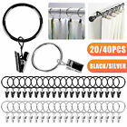 20/40 PCS High-Quality 1 Inch Metal Iron Drapery Window Curtain Rings With Clips