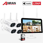 "ANRAN 13""LCD NVR Wireless Security Camera System Outdoor 8CH 3MP HD 1TB HDD IR"