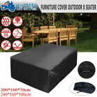 7 Sizes Rain Sun Protector Patio Outdoor Furniture Cover Set Garden Setting Seat