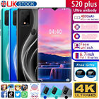 """2020 New S20plus 2+32gb 6.7"""" Android Smartphone Face Unlocked Mobile Phone Uk"""