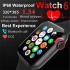 NEW 2021 HD Smart Watch CALL DIAL Temperature ECG BLOOD OXYGEN Android iPHONE UK