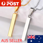 Rectangle Stainless Steel Necklace Pendant Mens Fashion Free Shipping Australia