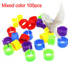 100Pcs Plastic Birds Poultry Duck Pigeons Dove Parrot Leg Foot Band Clip Rings