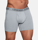 New Three Pack Men's Under Armour Stretch Charged Cotton Boxer Jock Boxer Briefs