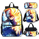 My Hero Academia Todoroki Quirk School Backpack Insulated Lunch Bag Pen Case Lot
