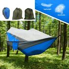 Camping Double Hammock Hunting Outdoor Garden Hanging Swing Nylon Chair Bed