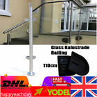 Stainless 110cm End Mid Corner Glass Balustrade Posts Stair Pole Handrail 8-12mm