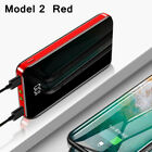 900000mAh Power Bank 2USB Portable Fast Charging External Battery Backup Charger