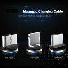 Magnetic Fast Charger Cable Plug For Type-C Samsung S9 S10 S20 Micro-USB IOS Lot