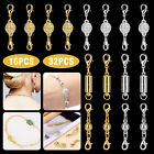 Strong Magnetic Lobster Clasps Jewelry Necklace Converter Extender Gold Silver