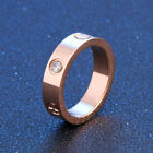1PC Stainless Steel Ring Crystal Rhinestone Band Simple Men Women Jewelry Gift