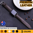 Premium Leather Strap Iwatch Band For Apple Watch  6 5 4 3 2 1 Se 38/40/42/44mm