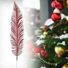Large Glittered Spiky Feather Leaf - Glittery Flowers Home Decor Fake 5h8e