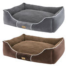 Waterproof Rectangle Dog Bed Soft Washable Cushion Elevated Warm Basket Lounge