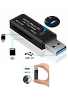 High Speed USB 3.0 SD Memory Card Reader Adapter Micro SD SDXC SDHC TF PC Laptop