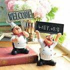 Chef Statue Resin Figurine Home Kitchen Ornament Decoration Craft Accessories