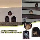 Miniature Mouse Hole Decal Wall Corner Sticker Home Indoor Outdoor Decoration