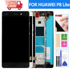 For Huawei P8 Lite Screen Replacement Touch LCD Display Digitizer Glass Frame