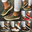 Women Breathable Flat Slip On Sneakers Casual Trainers Loafers Pumps Soft Shoes