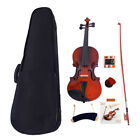 Glarry Natural Acoustic Violin Kits Full Size 4/4 1/2 1/4 1/8 + Case Strings Bow