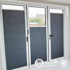 Frameless And Easy To Fit Blackout Thermal Honeycomb Pleated Blinds Bi-fold Door