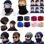 Unisex Solid Neck Warmer Thermal Snood Hats Scarf Beanie Outdoor Balaclava Caps