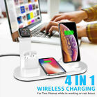 Wireless Charging Station Dock 4in1 Charger Stand For AirPods Apple Watch iPhone
