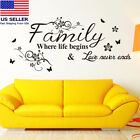 Wall Stickers FAMILY Letter Quote Removable Vinyl Decal Living Room Decor B1S