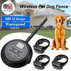 Wireless Electric Pet Dog Fence Containment System Shock Collars For 1/2/3 Dogs