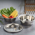 Kitchen Portable Multifunctional Stainless Steel Basin with Filter/Grater/Bowl E