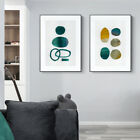 Home Decor Print Paper Canvas Wall Art Abstract Green Dancing 2 Sets Poster