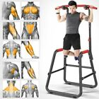 Adjustable Pull Up Chin Up Bar Dip Stand Power Tower Home Gym Fitness Workout US