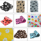 Pet Dog Cat Puppy Soft Bed Cover Cushion Blanket Warm Small Fleece Paw Print Hot