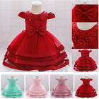 Kid Flower Prom Girls Princess Lace Bridesmaid Formal Wedding Party Maxi Dresses