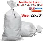 WHITE WOVEN (WPP) HEAVY DUTY DURABLE REUSABLE RUBBLE BAGS/SACKS Size: 22 x 36
