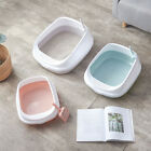 Portable Cat Washroom Litter Box Open Top Small Dog Bedpans Pan Tray with