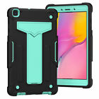 For Tab A 8.0 10.1 2019 Hard Plastic Rubber Military Kids Shockproof Stand Cover