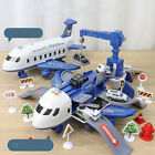 Kids Toys Simulation Track Inertia Airplane Music Stroy Light Toy Playset