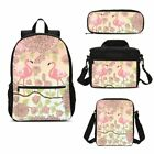 Tropical Flamingo School Backpacks Insulated Lunch Box Shoulder Bag Pen Case Lot