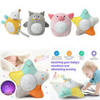 Cartoon Animal Stuffed Toys with Smoothing Musch  Light Projector for Baby