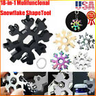 18 In 1 Snowflake Wrench Tool Spanner Hex Wrench Multifunction Camping Tool USA