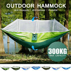 Double Person Hanging Hammock Bed Outdoor Travel Camping Tent w/ Mosquito U
