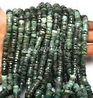 Pretty Natural Green Emerald Smooth Heishi Tyre Shape Gemstone Loose Beads,6.5mm