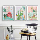 Home Hanging Decor Print Paper Canvas Wall Art Leisure Afternoon 3 Sets Poster