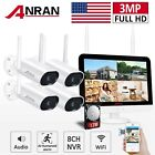ANRAN Security Camera System IP Outdoor Audio 1296P Wireless 1TB HDD Home HD 3MP
