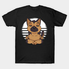 Funny Cute German Shepherd Yoga Pose T Shirt For Men Women