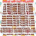 Nook Miles Tickets, Bells ,640 DIY FAST DELIVERY ONLINE Animal Corssing Horizons