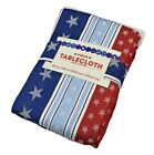 America 4th of July Patriotic Stars & Stripes Cotton Tablecloth ASSORTED SIZES!