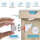 Invisible Magnetic Baby Child Locks Pet Proof Cupboard Drawer Safety Lock tt